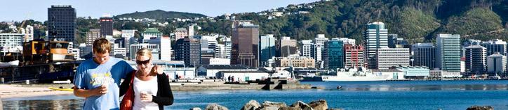 Oriental Bay Beach, Wellington. Image: Positively Wellington Tourism