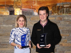 youngTEC winners Jessica Taylor and Shayne Forrest