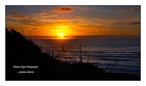 Sunset over Tasman Sea from Breakers Boutique Accommodation
