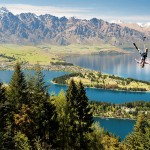 Ziptrek Ecotours guest enjoying the view of Queenstown